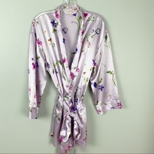 Victoria's Secret Robe One Size Pink Floral Green